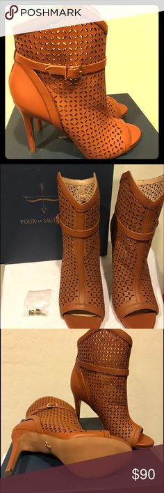 Pour La Victoria heeled booties Brand new never worn comes with box and dust bag Pour la Victoire Shoes Ankle Boots & Booties