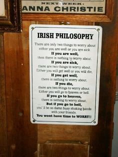 Irish Philosophy....funny