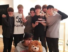 Taeil, Hansol, Taeyong, Johnny, Ten and Yuta celebrating Kun's birthday #SMROOKIES
