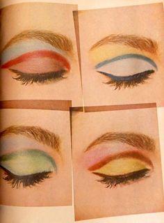Makeup Inspo, Makeup Art, Makeup Inspiration, Beauty Makeup, Eye Makeup, Hair Makeup, Makeup Pics, 1960s Makeup, Retro Makeup