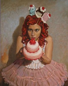 Michael Foulkrod Paintings: puppy cakes 16x20 oil on panel