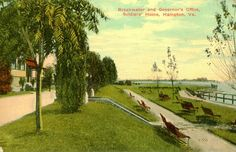 Hampton,VA. Breakwater and Governor's Office at Soldiers' Home