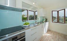 resene splashback colours blue with white kitchen - Google Search