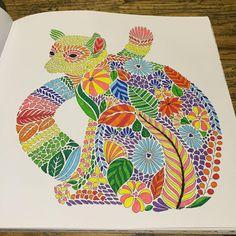 Lemur. #lemur #colour #colouring #milliemarotta #tropicalwonderland #shadyas