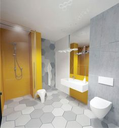 5 Creative and Colorful Ideas to Design A Master Bathroom - Talkdecor Yellow Bathrooms, Dream Bathrooms, Amazing Bathrooms, Master Bathrooms, Bathroom Wall, Bathroom Interior, Bathroom Ideas, Dark Purple Walls, Best Bathroom Colors