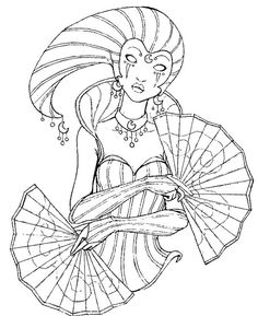 Adult coloring page Carnival