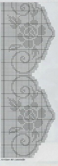 Knitting charts patterns quilts 57 ideas for 2019 Appliques Au Crochet, Crochet Edging Patterns, Filet Crochet Charts, Crochet Borders, Crochet Diagram, Knitting Charts, Crochet Squares, Crochet Motif, Irish Crochet