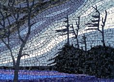 'Winter' by Terry Nicholls  ~  Maplestone Gallery  ~  Contemporary Mosaic Art