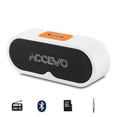 Gutes Produkt  Bluetooth Lautsprecher, Accevo Tragbar Wirelss Speaker Kabellos Musikbox mit TF Karte, FM Radio Funktion für iPhone, iPad, Samsung und vieles mehr #bluetooth #lautsprecher #accevo #tragbar #wirelss #speaker #kabellos #musikbox #karte #radio #funktion #iphone #samsung #vieles