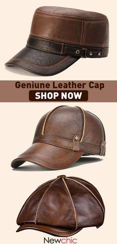 c36024b3b15 High-Quality Geniune Leather Caps  mensfashion