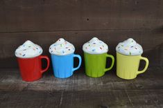 LAST ONES so this item is not available through custom order at this time!    This listing is for one ceramic coffee cup with a cupcake lid and a solid
