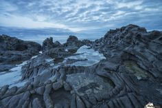 The volcanic bedrock near Tow Hill at dawn, Naikoon Provincial Park, Haida Gwaii; Masset, British Columbia, Canada Canvas Print