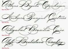 Fancy Cursive Fonts Alphabet For Tattoos Letters