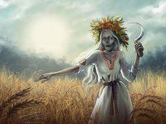Polednice - Noonwraith Midday Lady - slavic Demon by makota Wicca, All Inclusive Urlaub, Art Puns, Wicker Man, Legends And Myths, Goddess Art, Demonology, Horror, Vampire
