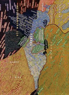 Visit/live in Palestine. (This is a Paula Scher map of Palestine and Israel... was fascinated by her designs when I was in university)