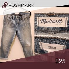Madewell Boyjean They don't fit me Anymore, they are too loose on me. Madewell Jeans Boyfriend