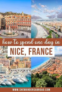 You have only one day in Nice for sightseeing? Don't worry, I got you covered! Follow this Nice itinerary to see the best of the city in just 24 hours! #nice #frenchriviera #shewandersabroad | France Travel Tips | Nice France Travel Tips | Best things to do in Nice France | Nice France Photography Ideas | French Riviera Photography | Best beach in Nice France | What to do in Nice France | Where to stay in Nice France | Castle Hill Nice | Old Town Nice France | Nice France Itinerary for one…