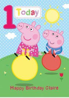 Peppa Pig personalised cards