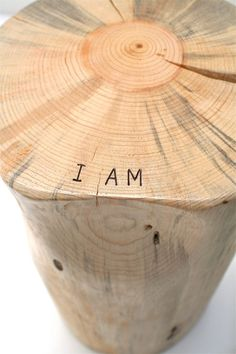 I AM Tree Stump Table Stool Seat by realwoodworks1 on Etsy, $232.00