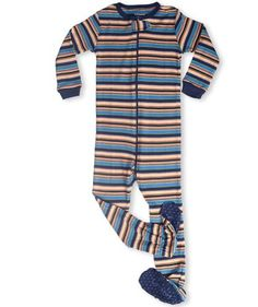 """Leveret (M)Footed """"Striped"""" Pajama Sleeper 6M-3T (New Design, Fall '11) (12-18 Months) - http://www.discoverbaby.com/maternity-clothes/sleepwear/leveret-mfooted-striped-pajama-sleeper-6m-3t-new-design-fall-11-12-18-months/"""