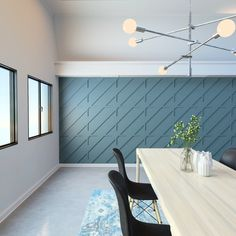 Modern Wall Fretwork Panels - Our designer PVC wall panels are a great way to turn traditional wall space into stunning features. Feature Wall Bedroom, Accent Walls In Living Room, Accent Wall Bedroom, Feature Walls, Wall Panel Design, Diy Wall Panel, Pvc Wall Panels Designs, Accent Wall Panels, Black Accent Walls