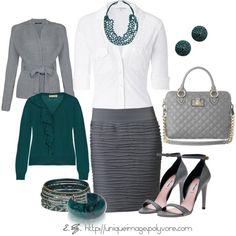 Gray & Turquoise