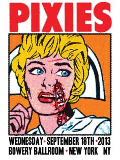 PIXIES POSTER FOR BOWERY BALLROOM SHOW