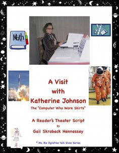 "A physicist, space scientist and mathematician, Katherine G.Johnson played a very important role with NASA's early space missions. The movie Hidden Figures highlights the role of NASA's ""computers"" and their contributions. Part of my Ms. Bie Ografee Talk Show Series of Reader's Theater Scripts, there are comprehension questions, a Did You Know? section,a Teacher page with extensions/links and key. A STEM biography!"