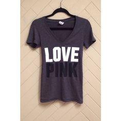 PINK Victoria's Secret V-Neck 'Love PINK' v-neck from PINK Victoria's Secret. Gently worn. No rips or stains. ❌No trades❌ PINK Victoria's Secret Tops Tees - Short Sleeve