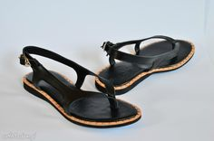 Góralskie sandały buty swarne folkowe spinka