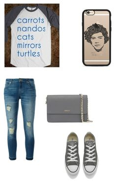 """""""One Direction"""" by emilylivingston-1 ❤ liked on Polyvore featuring MICHAEL Michael Kors, Casetify, Converse and DKNY"""
