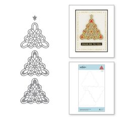 Kaleidoscope Christmas Tree Etched Dies from Sparkling Christmas Collection