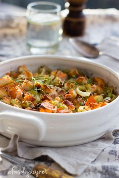 Easy dairy free fennel and sweet potato gratin