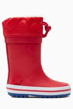 Buy Red Fleece Lined Wellies (Younger Boys) from the Next UK online shop