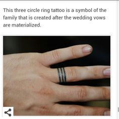 Wedding ring tattoo. 3 circles.