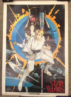 STAR WARS / ORIGINAL POSTER #1 - COMIC BOOK ART HOWARD CHAYKIN 1ST EDITION!