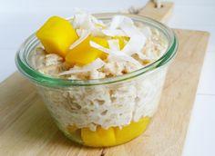 Tropisch havermout ontbijtje! - * Healthyfoodie *