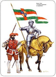 1544 Caballero y arcabucero