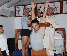 Urdvha Hastasana with Guruji and Jawahar