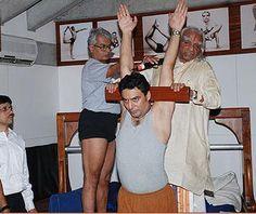 Urdvha Hastasana with Guruji and Jawahar