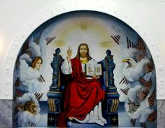 Lord on His Throne Christianity, Egypt, My Arts, Lord, Icons, Painting, Novelty Signs, Art, Painting Art