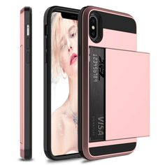 Tayget Case for iPhone XR XS Max Case Wallet Card Holder Sliding Cover Credit Card Slot ID Pocket Dual Layer Protective Hard Shell Rugged TPU Hybrid Bumper Armor Case. Slidable Hidden Slot Card Holder Wallet Case for iPhone. Iphone 8, Apple Iphone, Iphone Cases, Phones For Sale, Pc Cases, Silicone Gel, Design Case, Iphone Models, 6s Plus
