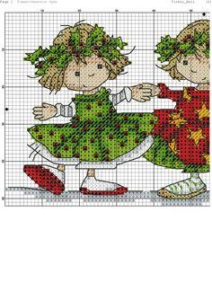 Salvo de cs612329.vk.me Cross Stitch Fairy, Xmas Cross Stitch, Cross Stitch For Kids, Cross Stitch Boards, Cross Stitch Needles, Cross Stitching, Cross Stitch Embroidery, Christmas Cross, Cross Stitch Designs