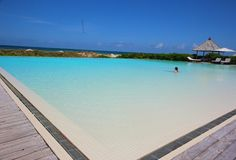 Infinity pool at Parrot Cay by COMO-Your own private beach house in the Turks and Caicos