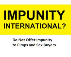So Amnesty International voted in favour of adopting a policy that calls for the full decriminalization of the sex trade. Hurray? Once the celebration or despair subsides we are left we a troubling picture… And what that picture reveals is one of deceitful propaganda and misleading rhetoric. Amnesty International has claimed that this decision was …