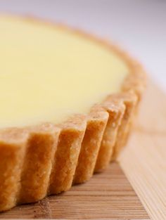 lemon curd in an almond tart shell..sounds delicious