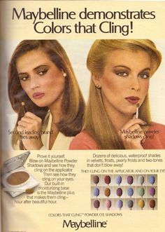 1980 Maybelline Cosmetics Makeup Retro Print Advertisement Vintage Ad VTG 80s | eBay