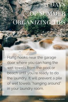 31 Days of Summer Organizing Tips – 2 | http://www.apersonalorganizer.com/31-days-of-summer-organizing-tips-2/