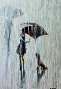 "Igor Mudrov creates the most amazing ""rain"" paintings."