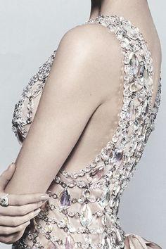 "Detail, Prada dress designed by Miuccia Prada for ""The Great Gatsby"